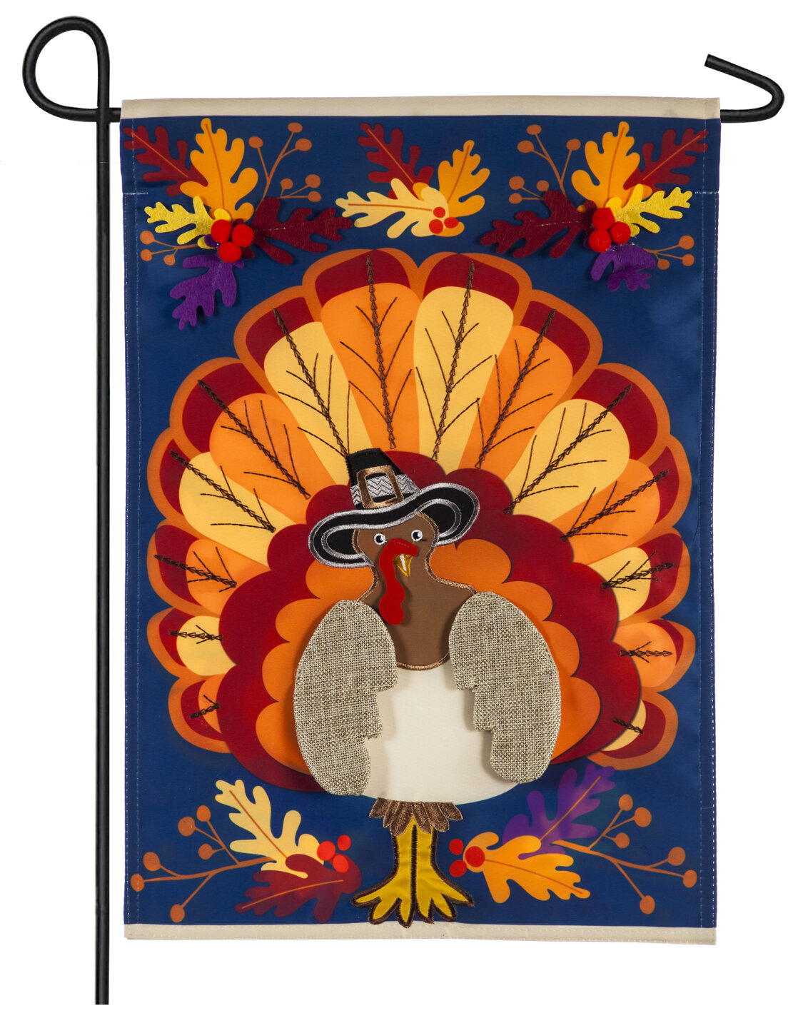 Evergreen Flag Garden Thanksgiving Turkey 2 Sided Polyester 18 X 13 In Garden Flag Wayfair