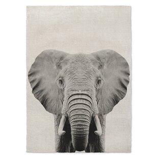 Best Choices Millis Elephant Gray/Black Area Rug ByWrought Studio