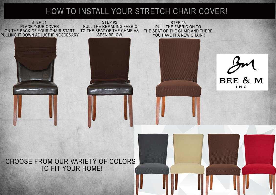 Bee M Vivian Stretch Polyester Dining Chair Slipcover Reviews