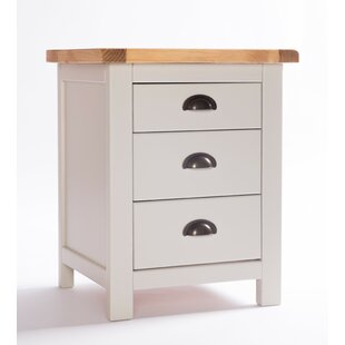 Ottilie 3 Drawer Bedside Table By August Grove