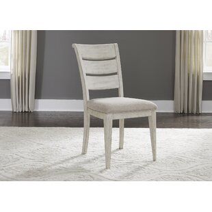 Konen Ladder Back Upholstered Dining Chair (Set of 2) Ophelia & Co.
