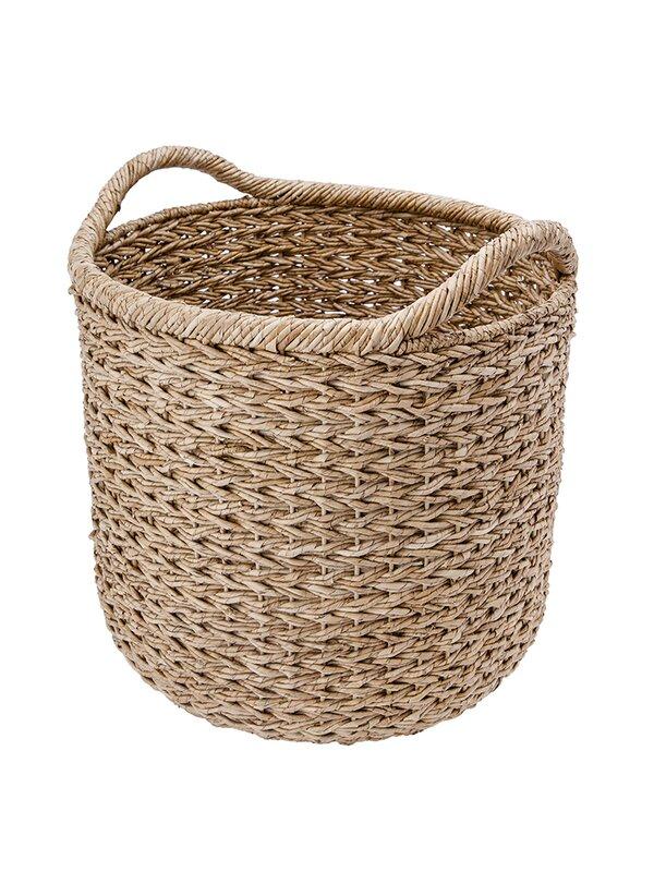 Handwoven Decorative Twisted Sea Grass Storage Basket