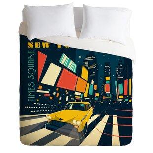 East Urban Home NY Times Square Duvet Cover Set