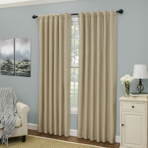 Beadles Solid Blackout Thermal Rod pocket Single Curtain Panel