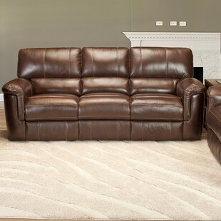 Blair Dual Leather Reclining Sofa by Red Barrel Studio