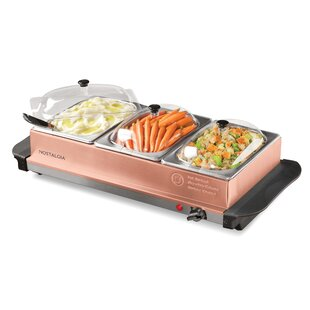3-Station 4.5-qt. Buffet Server and Warming Tray