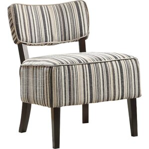 Curry Striped Side Chair by Ebern Designs