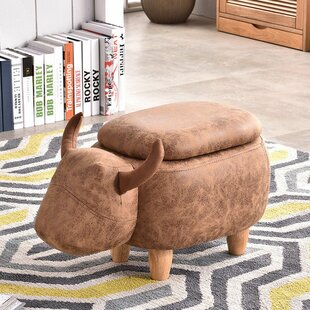 Rebecka Bull Stool By Alpen Home