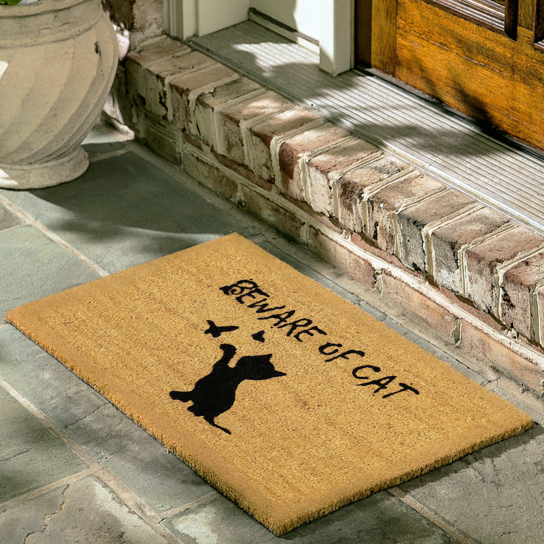 Printed Cat Door Mat Non-slip Floor Mat Office Chair Animal Indoor Bathroom Rugs