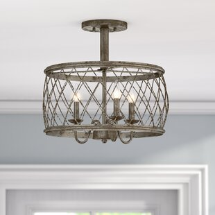 Mina 3-Light Semi Flush Mount by Lark Manor