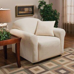 Stretch Microfleece Box Cushion Armchair Slipcover