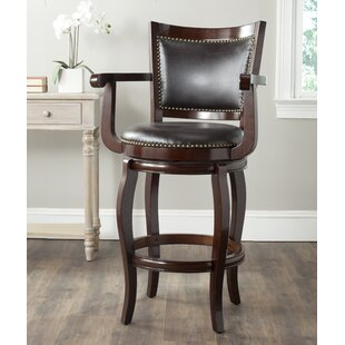 Superb Luthersville 31 Swivel Bar Stool Bralicious Painted Fabric Chair Ideas Braliciousco