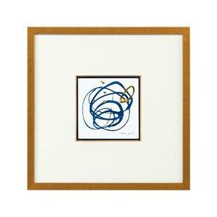 Blue And Gold Vi Framed Print By John Richard