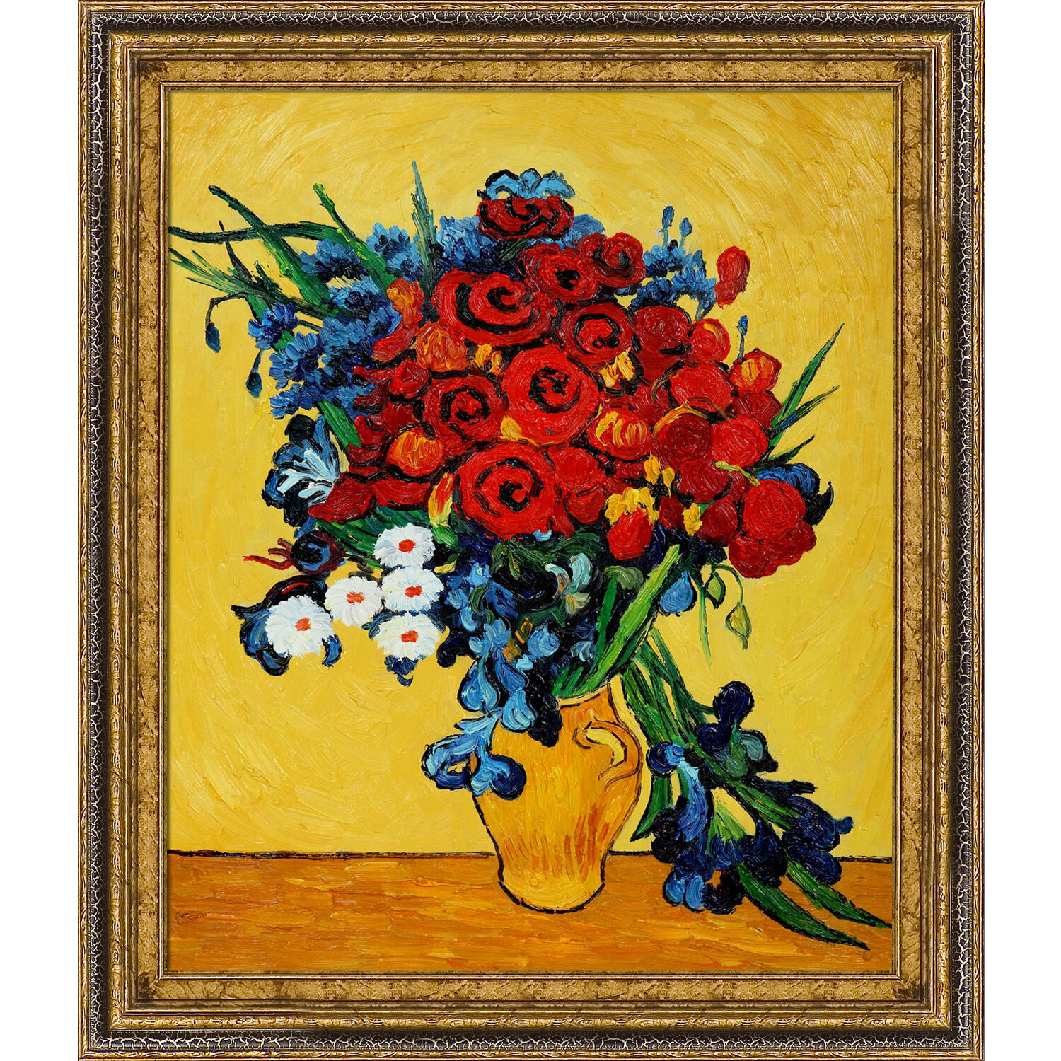 Tori Home Poppies and Iris Collage by Vincent Van Gogh Framed ...