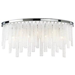 Orren Ellis Wanetta 7-Light Glass Bath Bar