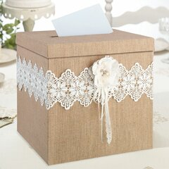 NEW Elegant and Rustic Faux Burlap Jute Ribbon Wedding Gift Wrapping Card Making