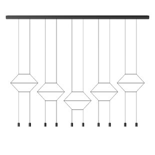 Wireflow 2D 2-Light Geometric Chandelier by Vibia
