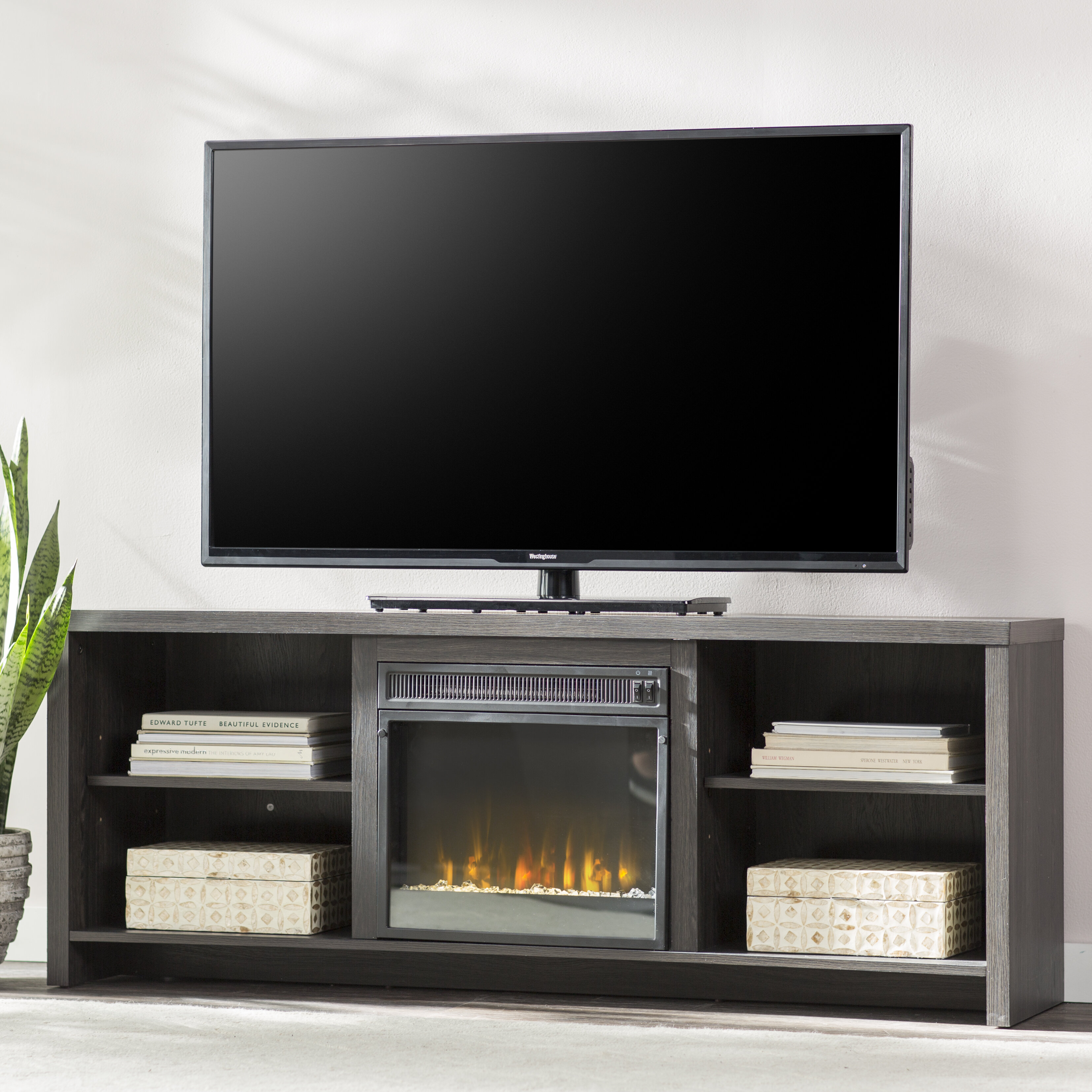 Mercury Row Pelton Tv Stand Tvs Up To 65 With Fireplace Reviews