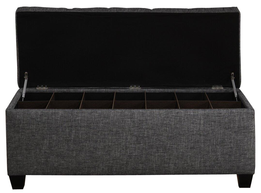 upholstered storage bench. upholstered storage bench  reviews  allmodern