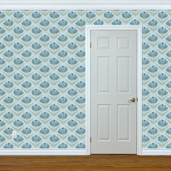 Large Print Floral Wallpaper Wayfair Ca