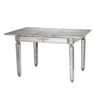 Jantz Violet Mirrored Extendable Dining Table Mercer41