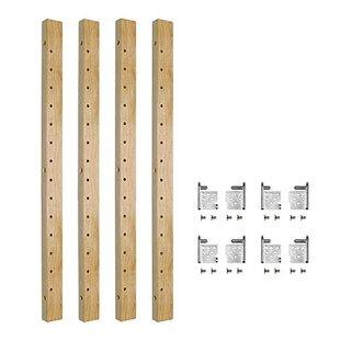 Burkeville 2-Drawer Pilaster Adjustable Bracket Pull Out Pantry