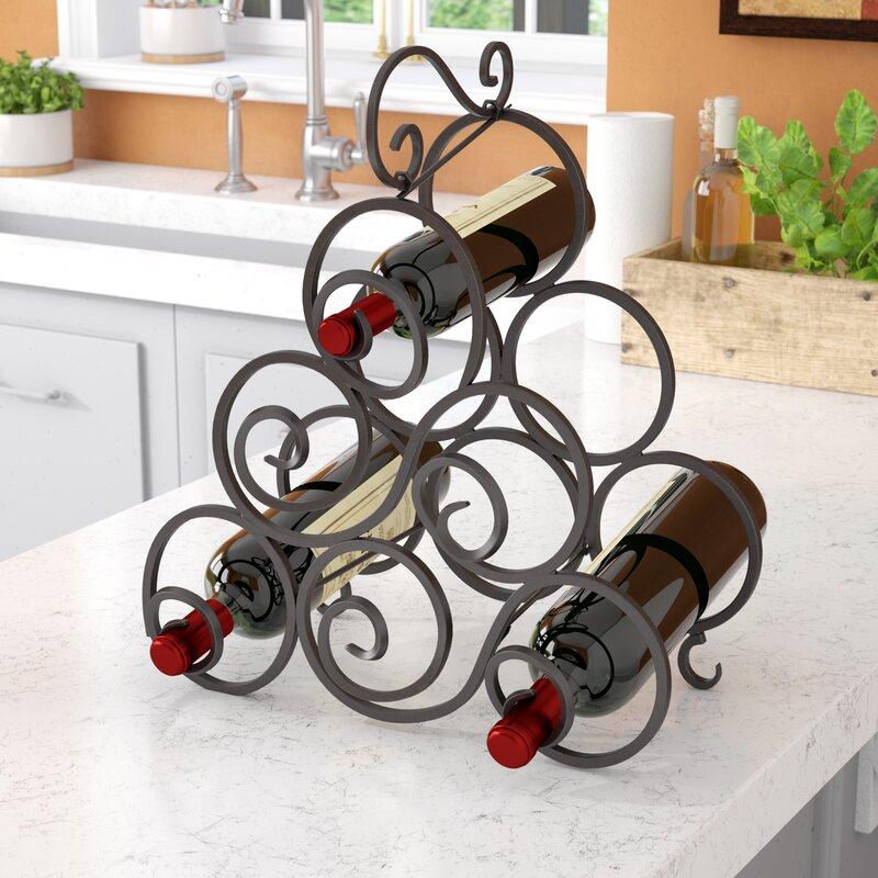 Fleur De Lis Living Nelda 6 Bottle Tabletop Wine Bottle Rack