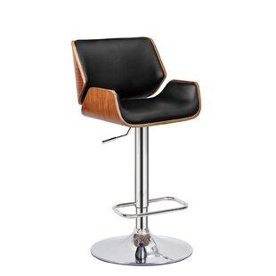 Dravin Adjustable Height Swivel Bar Stool by Orren Ellis
