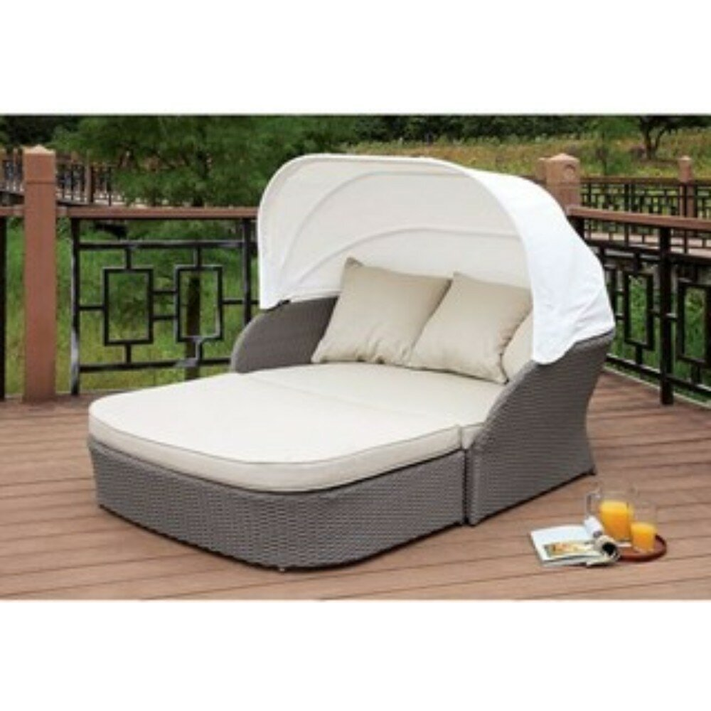 Ivy Bronx Shen Patio Daybed With Cushions Wayfair