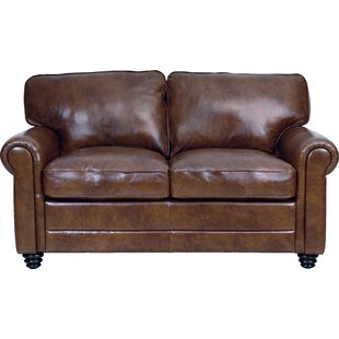 Shop Lambdin Leather Loveseat by Canora Grey