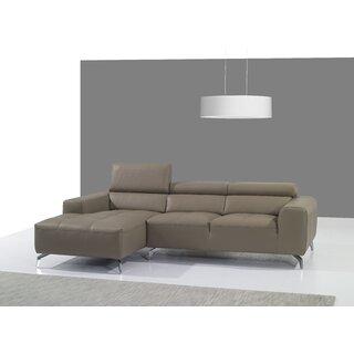 Alden Leather Sectional by Orren Ellis SKU:DA947464 Order