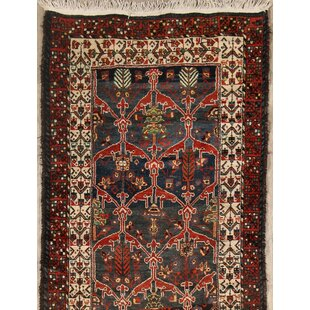 Price Check Star Karabagh Kazak Russian Traditional Oriental Hand-Knotted Wool Red/Black Area Rug ByBloomsbury Market