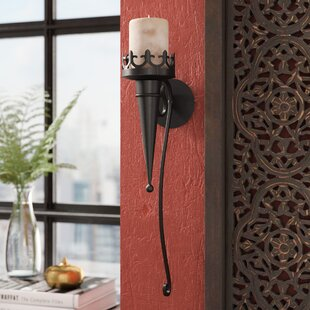 Iron Candle Sconce by Bungalow Rose