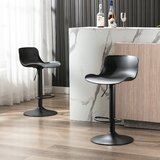 Coburg Swivel Adjustable Height Bar Stool (Set of 2) by Orren Ellis