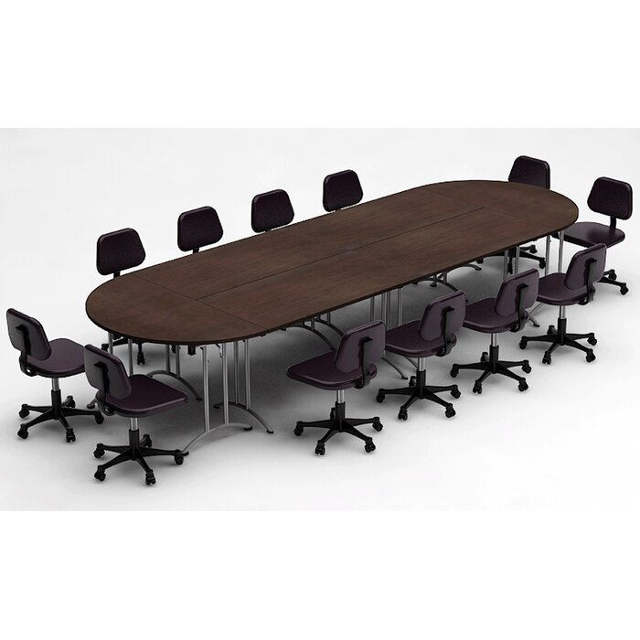 Team Tables Meeting Seminar Piece RacetrackOval H X W X - Oval conference table for 6
