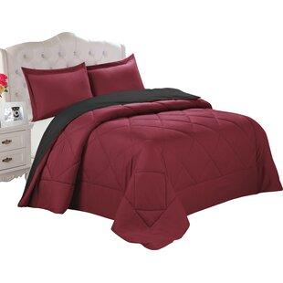 Andover Mills Quintal 3 Piece Reversible Comforter Set