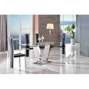 Biel Dining Set With 4 Chairs By Metro Lane