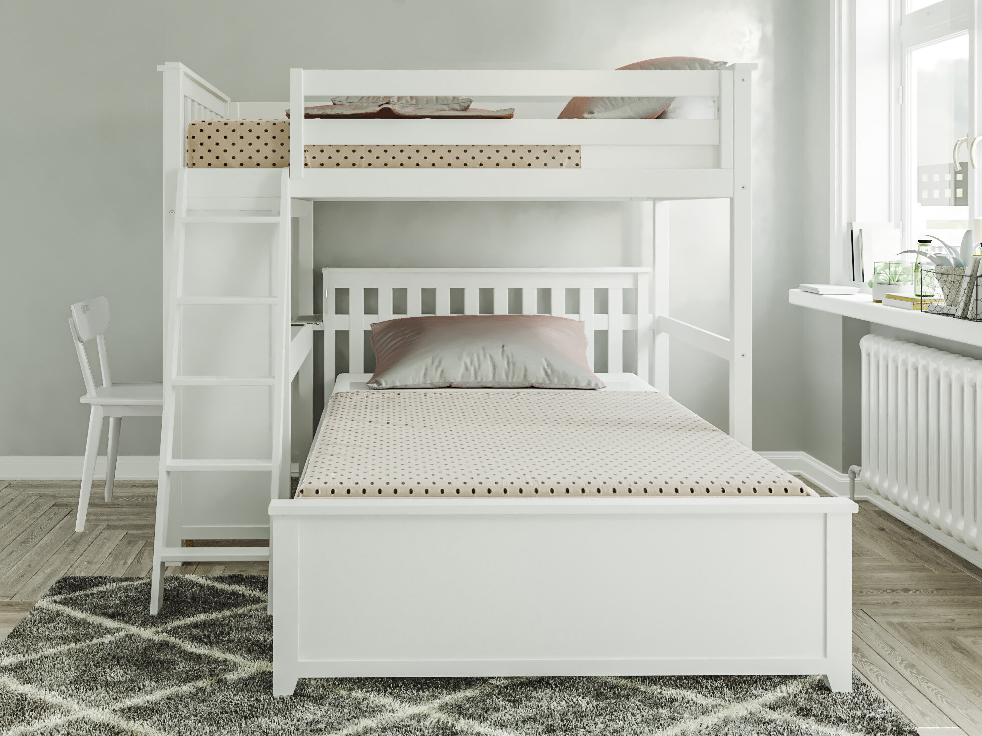 Harriet Bee Geyer Twin Over Full L Shaped Bunk Bed Reviews Wayfair Ca
