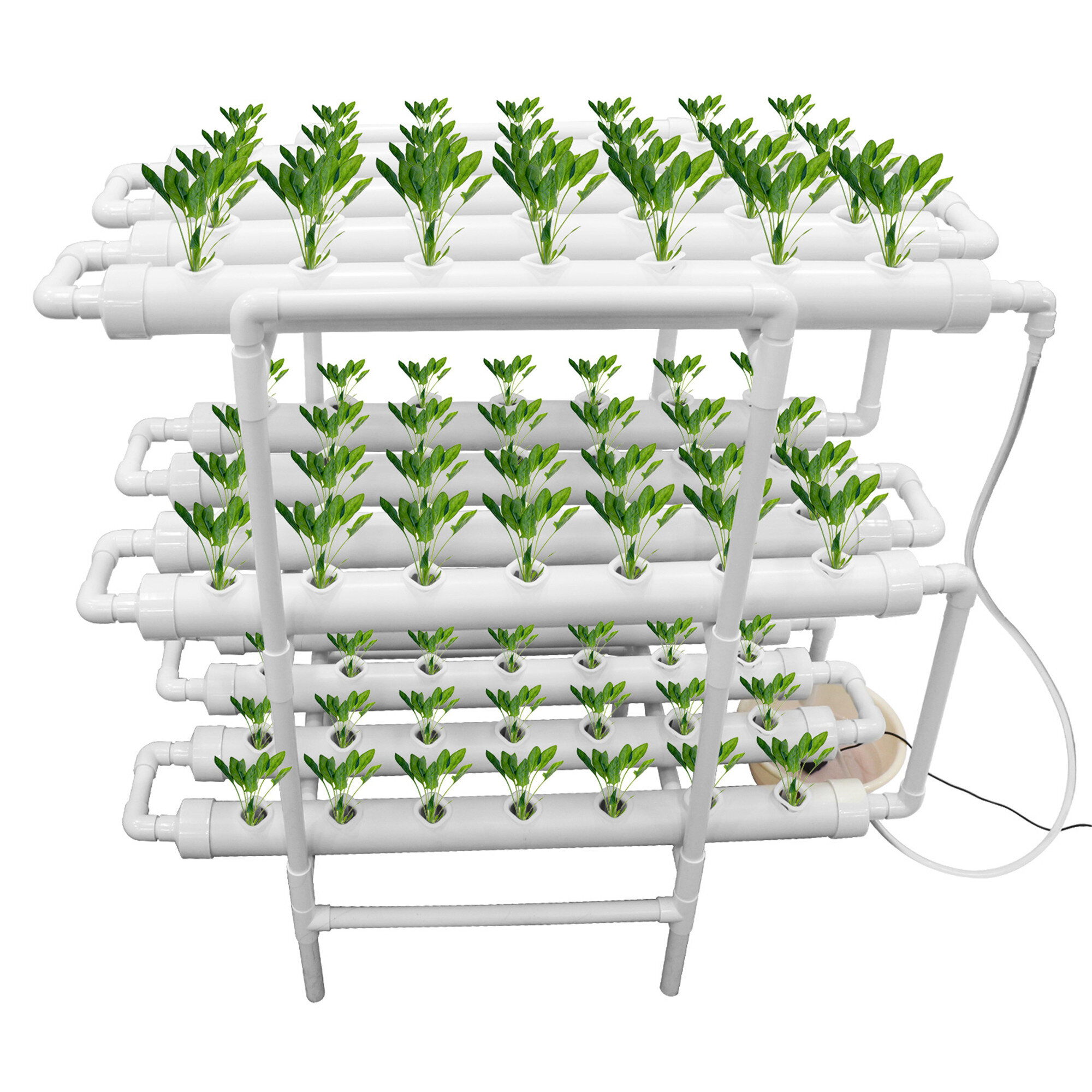 Luna S Elegant Home Upgraded Hydroponic Grow Kit Hydroponic Pipe Home Balcony Garden Grow Kit Plant Growing Systems