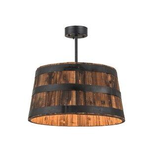 Meyda Tiffany Greenbriar Oak Whiskey Barrel 4-Light Pendant