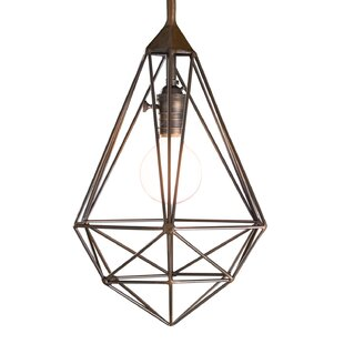 Wrought Studio Eunice 1-Light Diamond Drop Cage Pendant