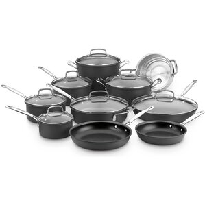17 Piece Chefs Classic Hard Anodized Non-Stick Cookware Set