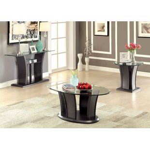 Latitude Run Leonis 3 Piece Coffee Table Set