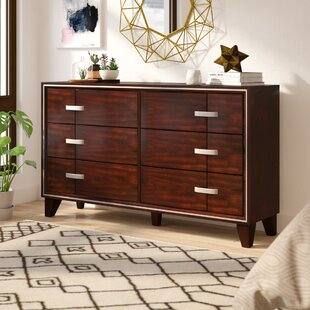 Lumley Contemporary 6 Drawer Double Dresser