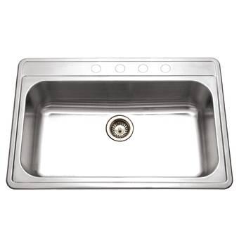 Elkay Lustertone 43 L X 22 W Drop In Kitchen Sink Wayfair