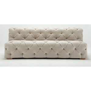 Pratt Tufted Armless Sofa by Rosdorf Park