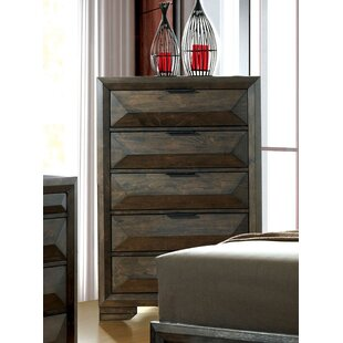Union Rustic Bender Contemporary 5 Drawer Chest