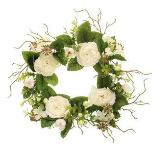 30cm Rose And Hypericum Wreath Image
