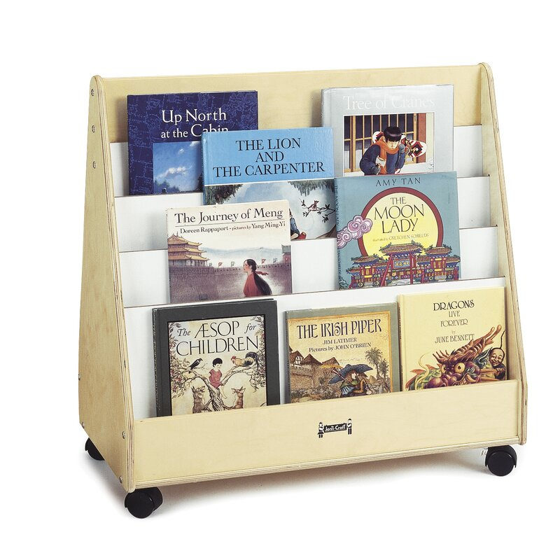 Jonti Craft Double Sided 8 Compartment Book Display With Wheels Wayfair