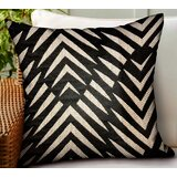 Buford Geometric Luxury Indoor/Outdoor Throw Pillow